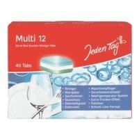 Jeden Tag 40er-Pack All-in-One Geschirr-Reiniger Tabs »Multi 12«
