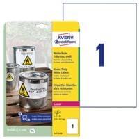 Avery Zweckform Wetterfeste Folien-Etiketten 210 x 297 mm »L4775-20«