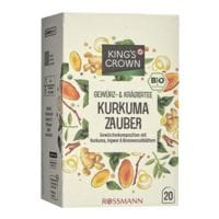 Kings Crown Bio Gewürz- & Kräutertee »Kurkuma Zauber« Tassenportion, 20er-Pack