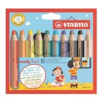 Stabilo 10er-Pack Buntstift »Woody 3in1«