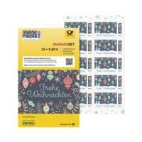 Deutsche Post Markenset Weihnachten Frohes Fest, 10x Post-Etikett zu 0,80 € selbstklebend