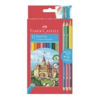 Faber-Castell (Schule) 12er-Pack Buntstifte »Colour« inkl. 3 Buntstifte »Bicolor« und Spitzer
