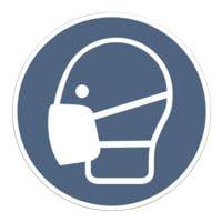 Hinweisschild »Maskenpflicht« Kunststoff Ø 20 cm, 10 Stück