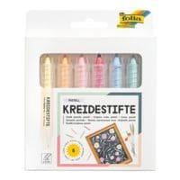 folia 5x 6er-Pack Kreidestifte »Pastell«