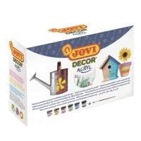 JOVI 6er-Set Acrylfarben mit Pinsel