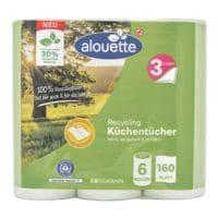 alouette Küchenrollen (halbe Blätter) »Recycling« 3-lagig