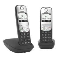 Gigaset Schnurloses Telefon »Gigaset A690 Duo« schwarz