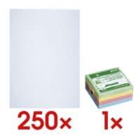 250 Versandtaschen, C4 100 g/m² ohne Fenster inkl. Haftnotizwürfel »Recycling«