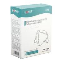 10er-Pack FFP2 Maske Einweg gefaltet »T8000« ohne Ventil
