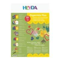 HEYDA 5x Bastel-Set »Papiermix Plus«
