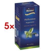 Meßmer 5x Pfefferminztee »Profi Line« Tassenportion, Aromakuvert, 25er-Pack