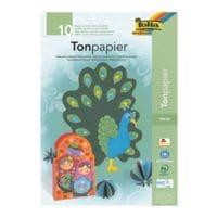 folia Tonpapierblock A3 - 10 Farben (10 Blatt)