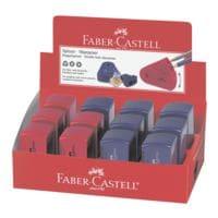 Faber-Castell (Schule) 12er-Pack Doppelspitzdose »Sleeve« rot / blau