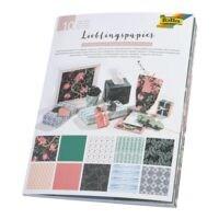 folia 5er-Pack Geschenk- und Bastelpapier »Lieblingspapier Ganzjahr« 50 x 70 cm - 10 Motive