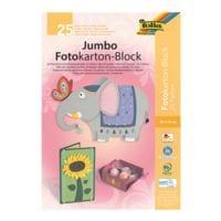 folia 5er-Pack Jumbo-Fotokartonblock 24 x 34 cm - 25 Farben (25 Blatt)
