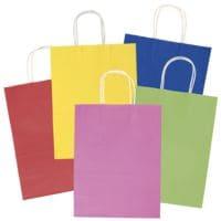 folia 20er-Pack Papiertüten »Basic« Größe L - 5 Farben