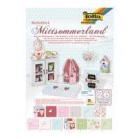 folia 5er-Pack Motivblock »Mittsommerland« 24 x 34 cm (26 Blatt)
