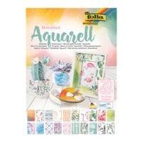 folia 5er-Pack Motivblock »Aquarell« 24 x 34 cm (20 Blatt)