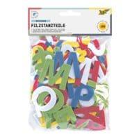folia 5x 150er-Pack Filzstanzteile »Buchstaben« - selbstklebend (5 Farben)