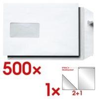 Versandtaschen, C5 90 g/m² mit Fenster inkl. 3-tlg. Musterpaket »Selbstklebelösungen Probeco«