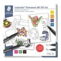 STAEDTLER Permanent-Marker Lumocolor mit Stickerbogen