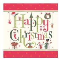 Papstar 20er-Pack Servietten »Happy Christmas« 3-lagig 33x33 cm