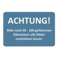 EICHNER 2 Rollen je 250 Kundendienst-Aufkleber »50-100 km - Räder nachziehen«