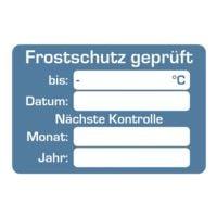 EICHNER 2 Rollen je 250 Kundendienst-Aufkleber »Frostschutz geprüft«