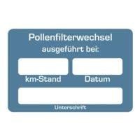 EICHNER 2 Rollen je 250 Kundendienst-Aufkleber »Pollenfilterwechsel«