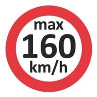 EICHNER 3x 100 Geschwindigkeitsaufkleber »max 160 km/h«