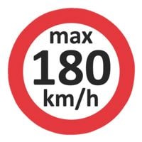 EICHNER 3x 100 Geschwindigkeitsaufkleber »max 180 km/h«