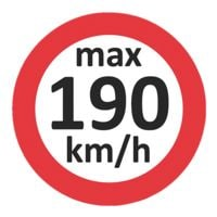 EICHNER 3x 100 Geschwindigkeitsaufkleber »max 190 km/h«