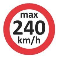 EICHNER 3x 100 Geschwindigkeitsaufkleber »max 240 km/h«