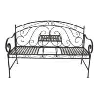 Garden Pleasure Gartenbank »Saket« mit hochklappbarem Tisch für 2 Personen schwarz