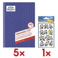 Avery Zweckform 5x Lieferschein »1721« A5 SD mit Empfangsschein inkl. Papiersticker »Fußbälle«
