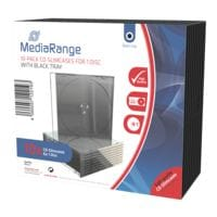 MediaRange 10er-Pack CD-Leerhüllen schmal