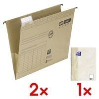 Elba 2x 10er-Pack Hängetaschen »vertic ULTIMATE« 100560133 inkl. Collegeblock »Touch« 400132395 A4