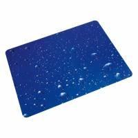 Bodenschutzmatte für Hartböden, Polycarbonat, Rechteck 90 x 120 cm, Floortex Wassertropfen
