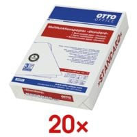 20x Multifunktionales Druckerpapier A4 OTTO Office Standard - 10000 Blatt gesamt