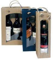 Flaschen-Geschenktasche - 2 Flaschen (mit Sichtfenster)