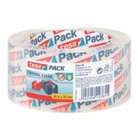 Packband tesa ultra strong crystal clear, 50 mm breit, 66 Meter lang - leise abrollbar