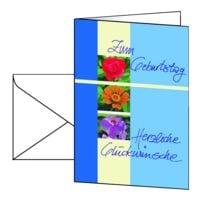 Geburtstagskarte SIGEL Trio, A6, mit Umschlag, 10 Stück