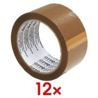12x Packband OTTO Office Professional, 50 mm breit, 66 Meter lang - mittellaut abrollbar
