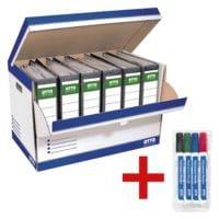 OTTO Office Ordner-Container (10 Stück) inkl. 4er-Pack Permanent Marker