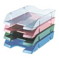 helit Briefablage the green deck, C4 PET transparent, stapelbar bis 30 Stück