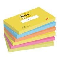 6x Post-it Notes Haftnotizblock Active Collection 655 12,7 x 7,6 cm, 600 Blatt gesamt, farbig sortiert