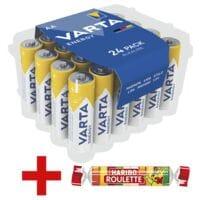 Varta 24er-Pack Batterien »Energy« Mignon / AA / LR06 inkl. Fruchtgummi »Roulette«