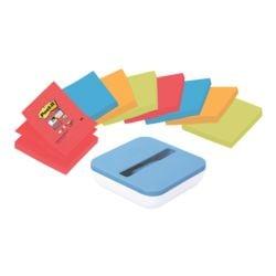 8x Post-it Super Sticky Haftnotizblock Z-Notes 7,6 x 7,6 cm, 720 Blatt gesamt, farbig sortiert