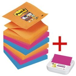 Post-it Super Sticky Z-Notes, 540 Blatt gesamt inkl. Musterspender »Z-Notes«