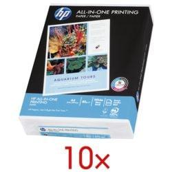 10x Multifunktionales Druckerpapier A4 Hewlett Packard All-in-One - 5000 Blatt gesamt, 80 g/m²